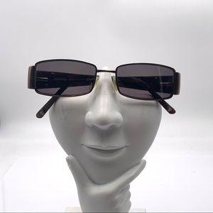 Versace 1135-B Brown Oval Sunglasses Frames